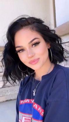 Instagram ~Jxdn - ♡26♡ - Wattpad Brunette Hair Color With Highlights, Hair Color Dark, Maggie Lindemann, Hair Dye Colors, Short Wavy, Grunge Hair, Looks Vintage, Pretty Face, Hair Inspo