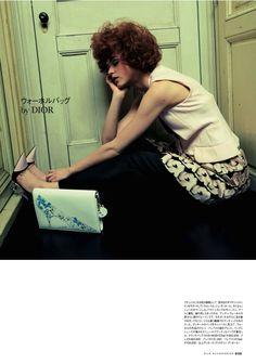 visual optimism; fashion editorials, shows, campaigns & more!: decorate me: rasa zukauskaite by mitsuo okamoto for elle japan september 2013