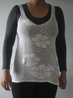 My filet crochet tank top..my first one!