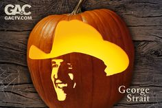 Put George Strait on your porch for Halloween! Over 20 country star pumpkin carving templates to pick from at http://www.gactv.com/halloween