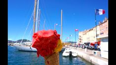 Saint Tropez port Getting an Ice Cream - YouTube video on Routey's channel.
