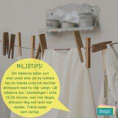 Luktar dina nytvättade kläder unket kan du ta hjälp av ättiksprit.