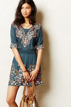 STYLEeGRACE ❤'s this Rhona Stitched Peasant Dress from Anthropology!