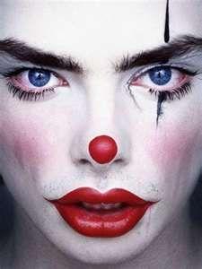 simple, yet slightly creepy clown makeup