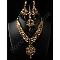 3 Line Kundan Set-Jewellery-Sara Creations