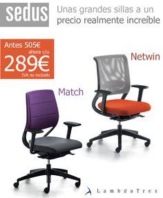Sillas de Oficina Sedus Match y Sedus Netwin por solo $289