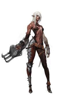 Fantasy Girl, Fantasy Female Warrior, Chica Fantasy, Warrior Girl, Fantasy Armor, Dark Fantasy Art, Anime Fantasy, Medieval Fantasy, Female Art