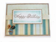 Happy Birthday Card Handmade Greeting Card with Envelope. $4.95, via Etsy.