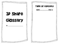 2D and 3D Shapes Differentiated Lesson Plan Tiered