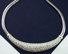 Vintage ROMAN Rhinestone Bridal Collar Bib by BrightgemsTreasures, $24.50