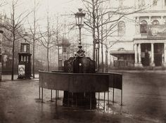 Paris' public urinals, seen here in an 1876 photograph by Charles Marville, helped cement its reputation as the most modern city in the worl...