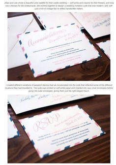 エアーメール風のウエディングカード&招待状セットデザイン | Weddingcard.jp