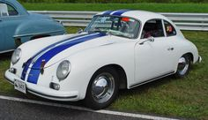 Porsche 356 - White & Blue. Image Copyright Serious Wheels.