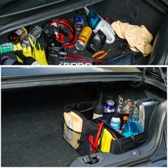 Trunk Organizer for Car Storage - Organizers Best for SUV Truck Van Auto Accessories Organization Caddy Bag - Front or Back-Seat Vehicle Sedan Interior Collapsible Bin Automotive Grocery Organize Box Trunk Organization, Storage Organizers, Caddy Bag, Car Trunk, Suv Trucks, Car Storage, Record Storage, Storage Drawers, Back Seat