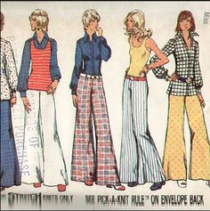 Vintage Simplicity 5589 Shirt-Jacket, Pullover Top and Hip Hugger Wide Leg Pants Sewing Pattern Buts 36 Pant Shirt, Shirt Jacket, Jeans Pants, Trousers, Shorts, Simplicity Sewing Patterns, Vintage Sewing Patterns, Stitch Shirt, Knitted Tank Top