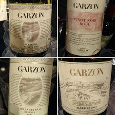 También de los hermanos charrúas @bodegagarzon con un Albariño Single Vineyard 2016 y el Cabernet Franc Reserva  super aromático