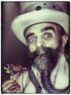 Love this guy..Love his eyes..Love his #Beard ..Love his #Madness .. #Eccentric #Vintage ..