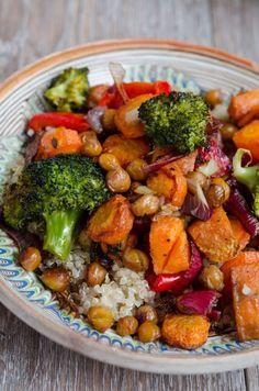 Baby Food Recipes, Vegan Recipes, Cooking Recipes, Baked Vegetables, Veggies, Good Food, Yummy Food, Balanced Meals, Vegan Dishes