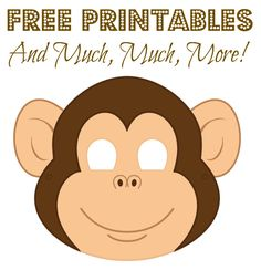 Make a monkey mask free printable is the perfect icebreaker project to keep kids who arrive at the Monkey Party busy. Printable Halloween Masks, Printable Animal Masks, Monkey Template, Monkey Mask, Monkey Face Paint, Monkey Costumes, Diy Monkey Costume, Monkey Crafts, Five Little Monkeys