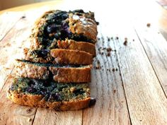 Paleo pancake bread recipe studded with fresh blueberries. Easy and delicious; makes an amazing breakfast, snack, or sweet treat!
