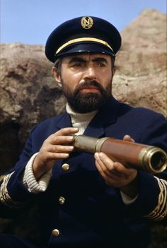 """Captain Nemo played by James Mason in Leagues Under the Sea"""" based on the novel of the same title by Jules Verne. James Mason, Nautilus Submarine, Tragic Hero, Eleanor Of Aquitaine, Steampunk Festival, Leagues Under The Sea, Sea Captain, Sci Fi Films, Dapper Day"""