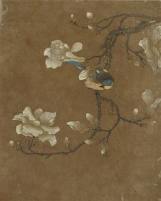 Bird and flowers   1368-1644   Ming dynasty   Ink and color on silk   China   Gift of Charles Lang Freer   Freer Gallery of Art   F1911.165b