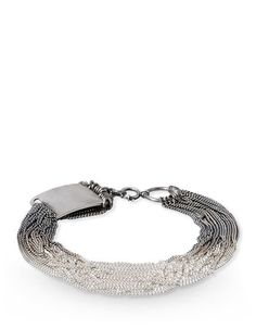 Hook closure Metal bracelet.