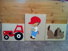 Little Farm Boy Plaques made by CCCbyReta.blogspot.com