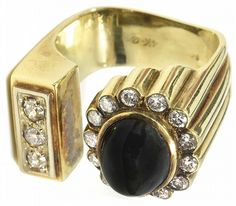 1969-70 Elvis Presley's Gold, Diamond and Black Sapphire Ring