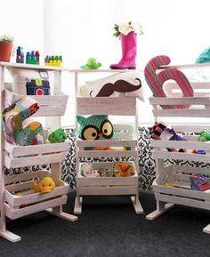 10 prácticos jugueteros para el cuarto de los niños