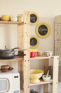 Decorating with upcycled chalkboard plates!