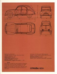 Citroen 2CV, page from the 1974 Citroen brochure #cars #graphic_design