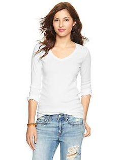 Favorite long-sleeve V-neck T - Garment washed for everyday softness, more fitted in the chest and sleeve for updated style and easy layering.