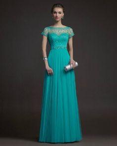 Abendkleid lang turkis kaufen