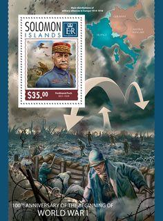 SLM 14320 bThe 100th anniversary of the beginning of the World War I (Ferdinand Foch (1851-1929))