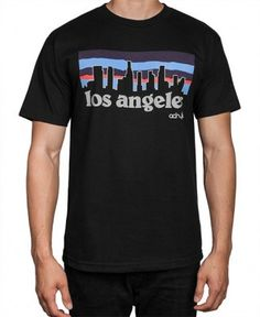 Acrylick - LA Skyline T-Shirt (Black) - $26