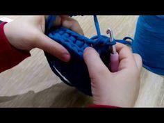 Penye ip yuvarlak sepet yapilisi - YouTube