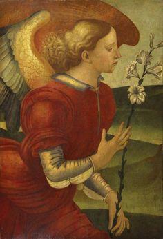 The Archangel Gabriel byLuca Signorelli (Italian, ca. 1450-1523), ca. 1490 in Tuscany.