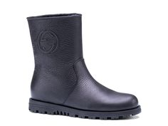 Gucci boots Meguro black leather with fur lining - Italian Boutique €438