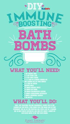 Back-to-School DIY Immune-Boosting Essential Oil Bath Bombs - Naturally Blended Essential Oil Bath Bombs, Essential Oil Scents, Bath Bombs Scents, Bath Salts, Bath Fizzies, Bath Boms, Bath Bomb Recipes, Plant Therapy, Flirt
