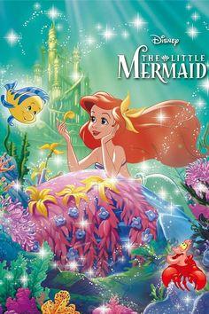 Disney The Little Mermaid Glow in the Dark Petit Jigsaw Puzzle Ocean Ariel Mermaid, Mermaid Disney, Disney Little Mermaids, Ariel The Little Mermaid, Disney E Dreamworks, Disney Films, Disney Cartoons, Disney Pixar, Disney Princesa Jasmine