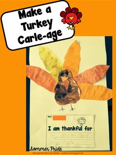Make a turkey collage out of painted paper!  Free directions and patterns