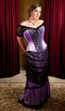 Purple satin & black lace ensemble - Like most clothes from Gallery Serpentine, this costs a FORTUNE but we can dream, right? :P