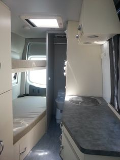You will not find standard layouts on your side. Every single RV conversion from us is unique. What we will show you here are samples and work which we have done previously or ideas which we wrapped up for particular jobs.  Our Company is specialised in individual layouts.