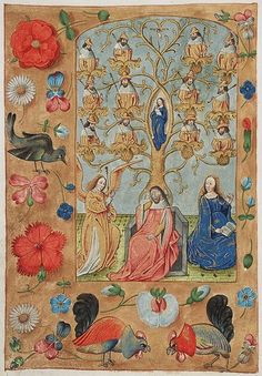 Annunciation - and a tree of Jesse The Hague, KB, 10 F 14 fol-11v