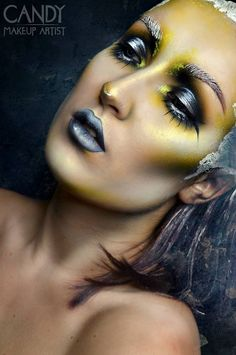 YELLOW  model/ make-up/ photo: candy makeup artist  Want to buy handmade styling/ headdresses, or hire me? Click on the link!