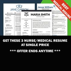 Nurse Resume Template Medical Resume Template by ResumeSouk