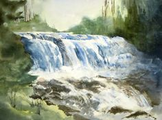 waterfalls, one of my watercolour paintings