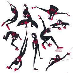 Spiderman Poses, Spiderman Drawing, Amazing Spiderman, Marvel Art, Marvel Heroes, Marvel Characters, Marvel Comics, Sketch Poses, Drawing Poses