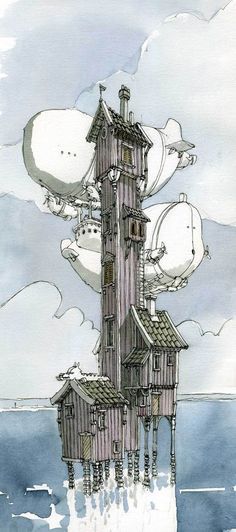 Architecture by Mattias Adolfsson, via Behance